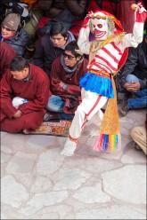 Masked dancers performing.