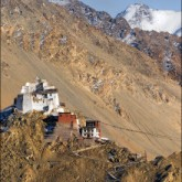 A hilltop monastery high above the city of Leh.