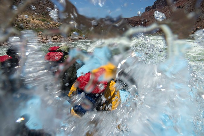 Running Hance Rapid on the Colorado River, Grand Canyon National