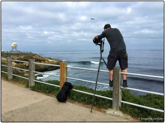 Nathaniel on location at La Jolla Cove in San Diego, California © Laurie Rubin