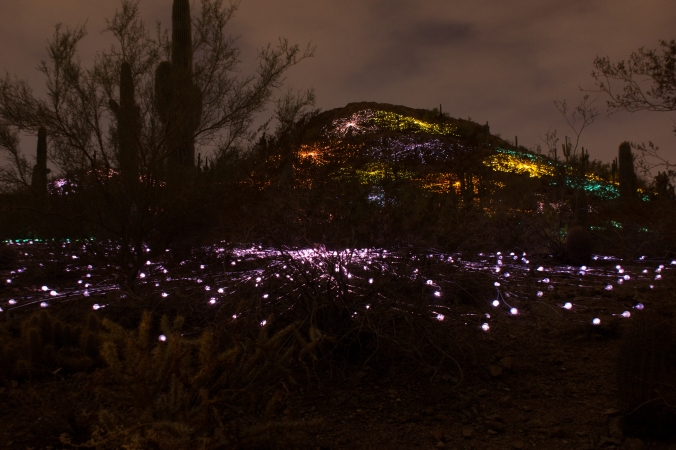 Different lights up the mtn