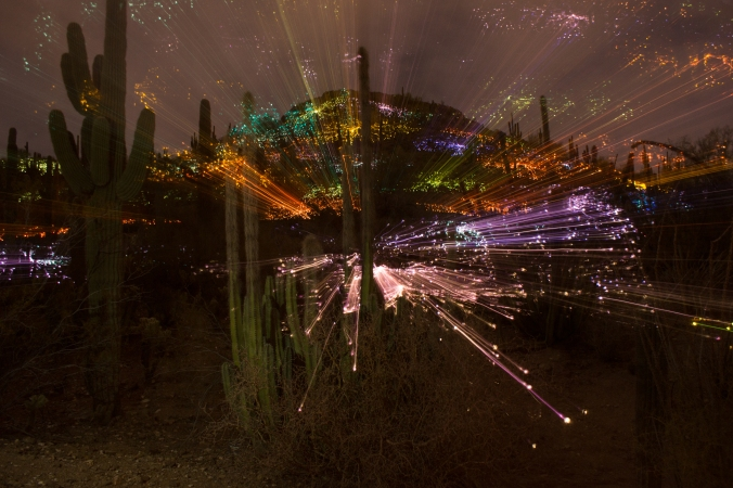 Lights jump off the mtn