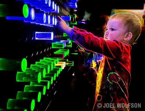 I spent 5 minutes using Topaz Glow to augment the sense of wonder by this child in a museum. This requires at least one hour in Photoshop with advanced expertise to accomplish a similar look.