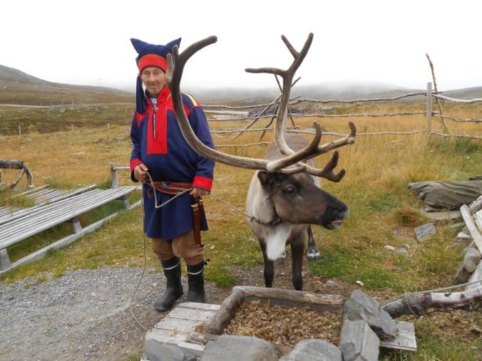 A Sami farmer and his reindeer