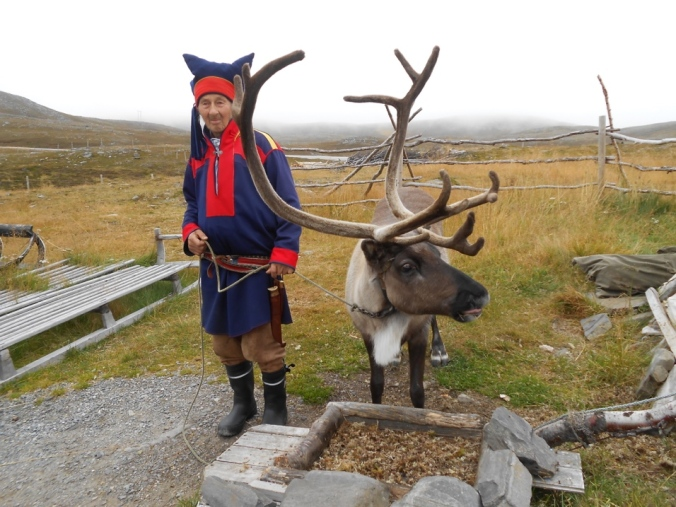 A Sami farmer and his reindeer